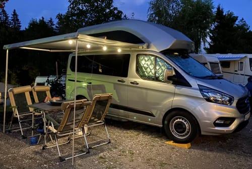 Kampeerbus Ford Nugget Willi Kämper in Gundelfingen huren van particulier
