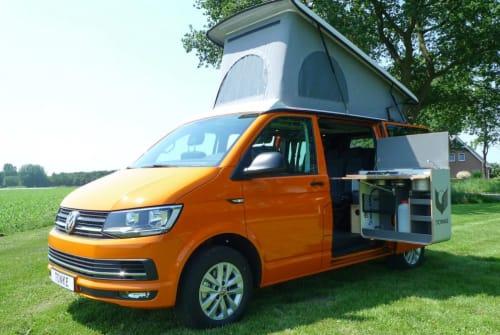 Buscamper VW Transporter XL VW Transp T6 XL in Loosdrecht huren van particulier