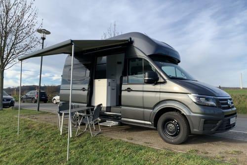 Buscamper VW CaliGrey XXL in Wetter huren van particulier