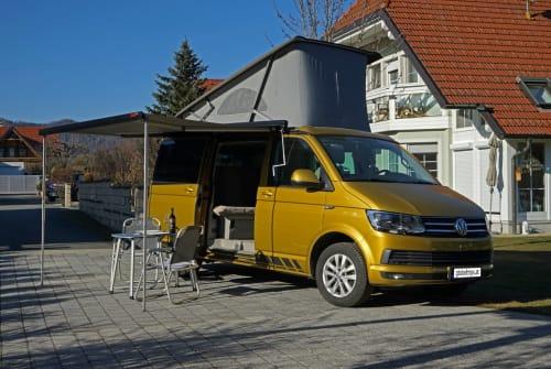 Kampeerbus VW T6 California Theo in Thal huren van particulier
