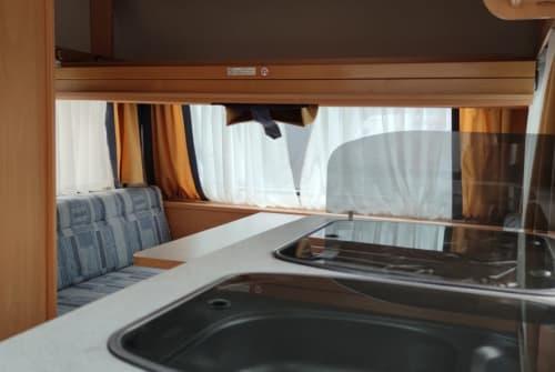 Caravan Hobby-Wohnwagen  Urlaub Kick 2 in Rauenberg huren van particulier