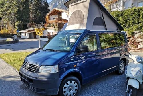 Kampeerbus VW Blue in Hall in Tirol huren van particulier