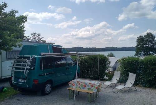 Kampeerbus Volkswagen Green Machine in Landsberg am Lech huren van particulier