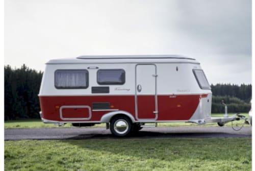 Caravan Eriba Touring Troll 530 Roxy Rockabilly in Borsfleth huren van particulier