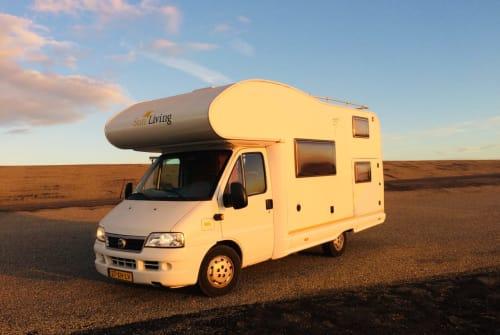 Alkoof Fiat Camper in Haarlem huren van particulier