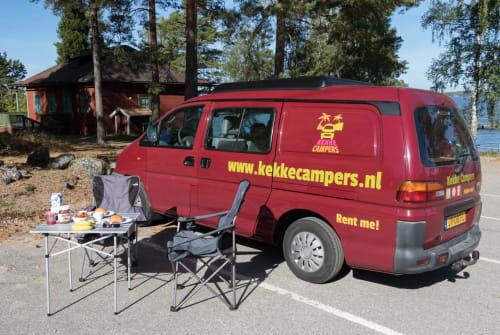 Kampeerbus Mitsubishi Palm in Utrecht huren van particulier