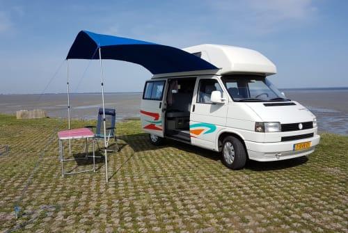 Kampeerbus Volkswagen T4 Westfalia  VanHoutekamer in Krabbendijke huren van particulier