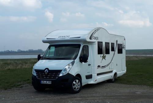 Halfintegraal Renault 4pfoten-caravan in Moormerland huren van particulier