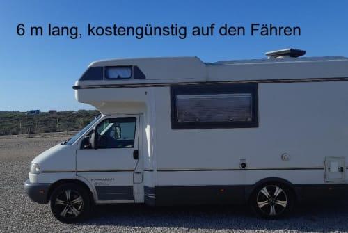 Alkoof VW T4 Karmann Colorado, Klima, 6 Dreipunktgurte Bo - neu/Klima in Klipphausen huren van particulier