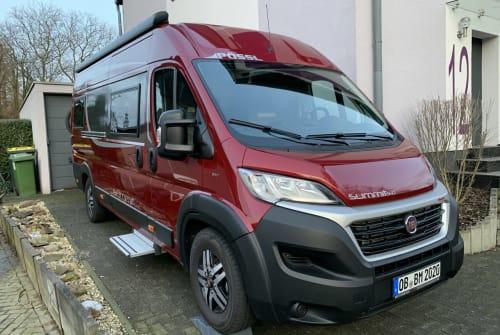 Buscamper Pössl bed-mobil in Oberhausen huren van particulier