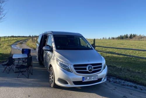 Kampeerbus Mercedes Benz DerOdenwaldBus in Oberzent huren van particulier