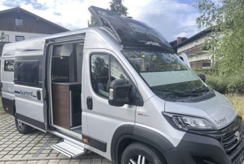 Buscamper Pössl Summit  Baby Campy in Hannover huren van particulier