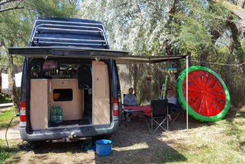 Kampeerbus Ford  Nugget  in Memmingen huren van particulier