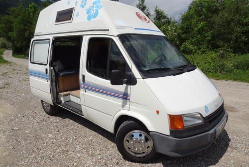 Kampeerbus Ford allgäucamper in Sonthofen huren van particulier
