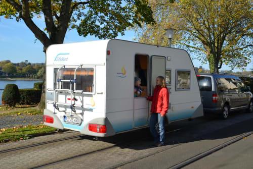 Caravan Eifelland Rheinland Camper Wohnwagen in Königswinter huren van particulier