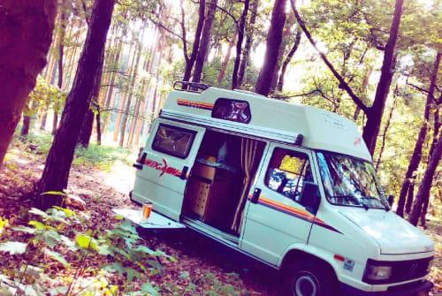 Kampeerbus Fiat Mercury in Hietzing huren van particulier