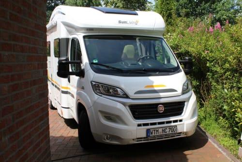Halfintegraal Fiat Hanse-Camper  in Friedeburg huren van particulier