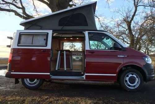 Kampeerbus  VW Rudi in Bischofswiesen huren van particulier