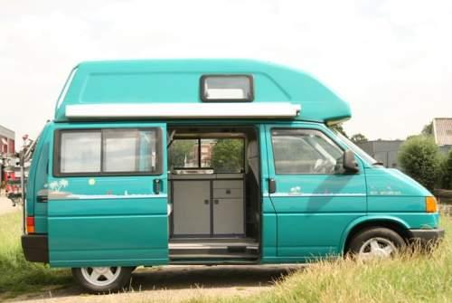 Buscamper Volkswagen T4 Groene camper in Montfoort huren van particulier