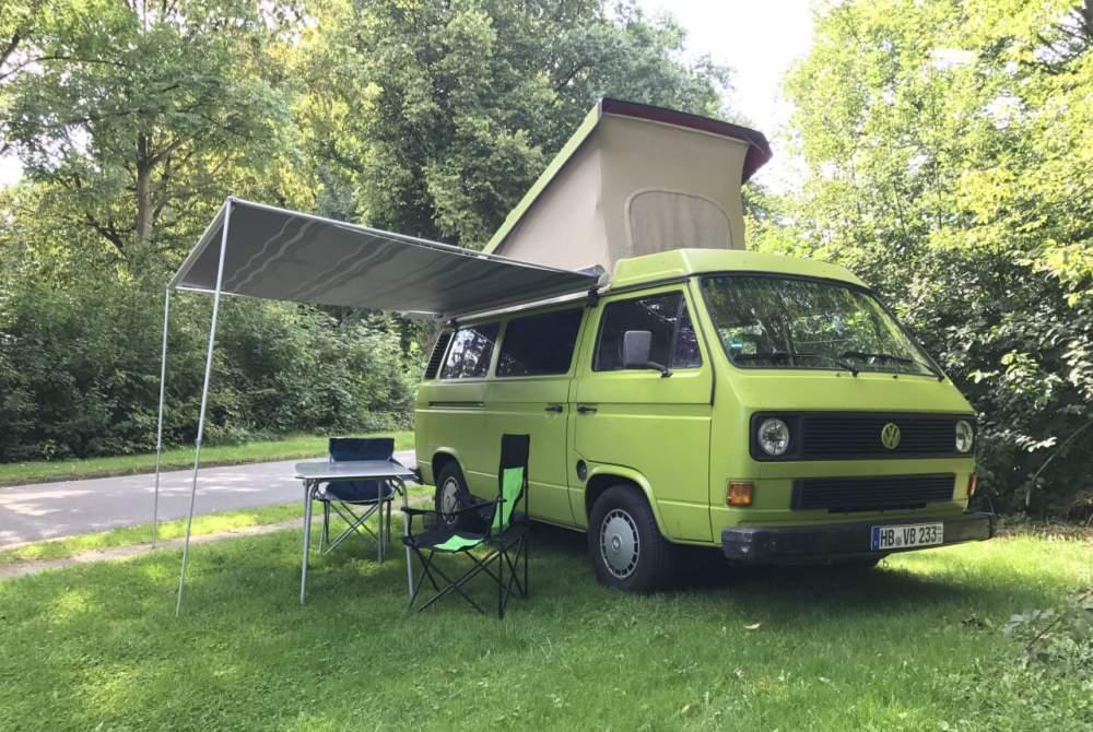 Kampeerbus Volkswagen Shrek in Bremen huren van particulier